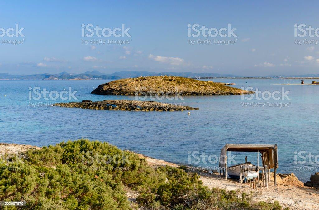 Formentera, Illestes beach stock photo