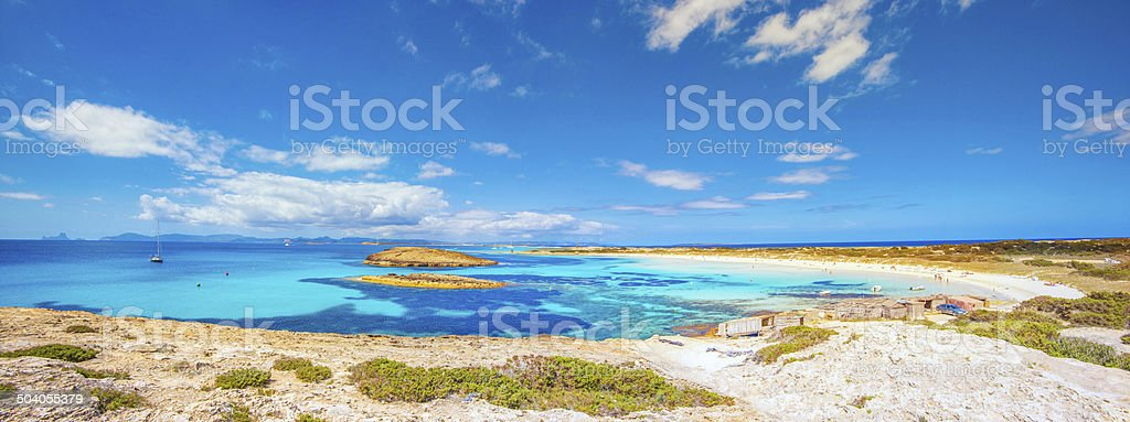 Formentera - Playa de ses Illetes stock photo