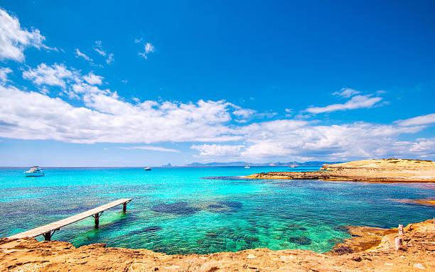 Formentera - Playa de ses Illetes stock photo