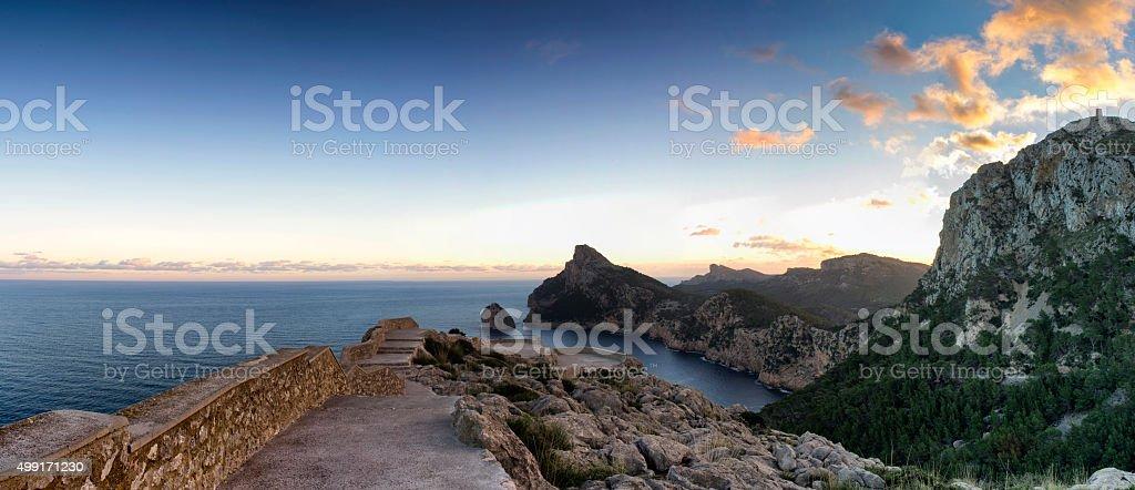 Formentor Cape in majorca stock photo