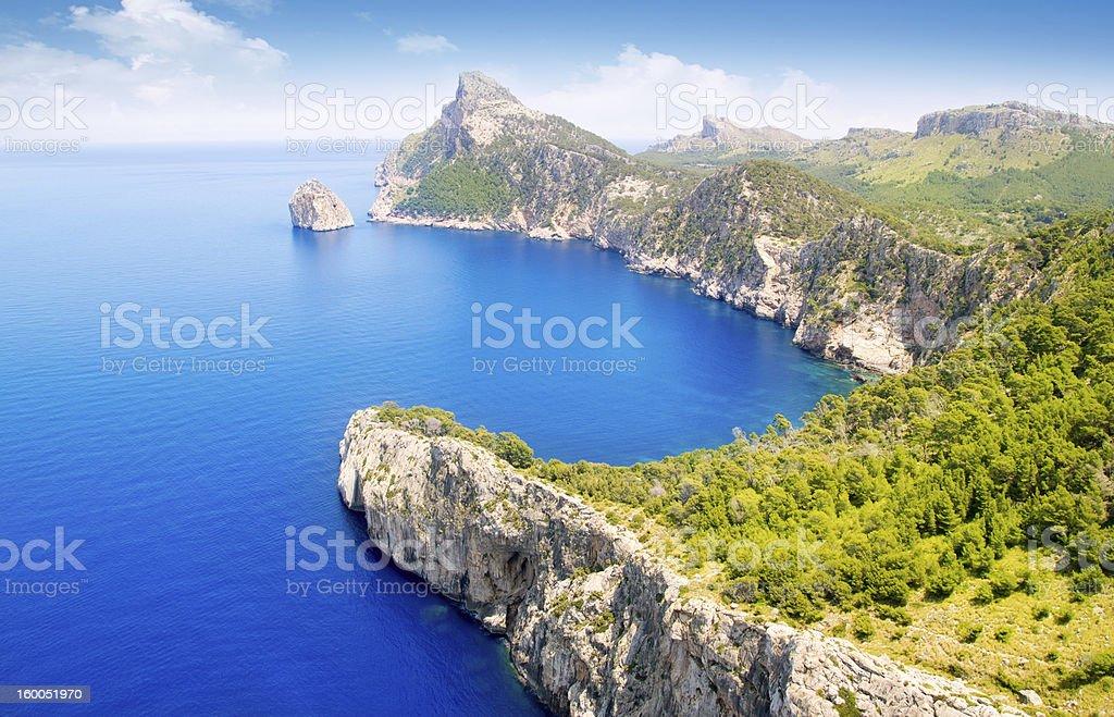 Formentor capo di Pollensa Veduta aerea vista mare a Maiorca - foto stock