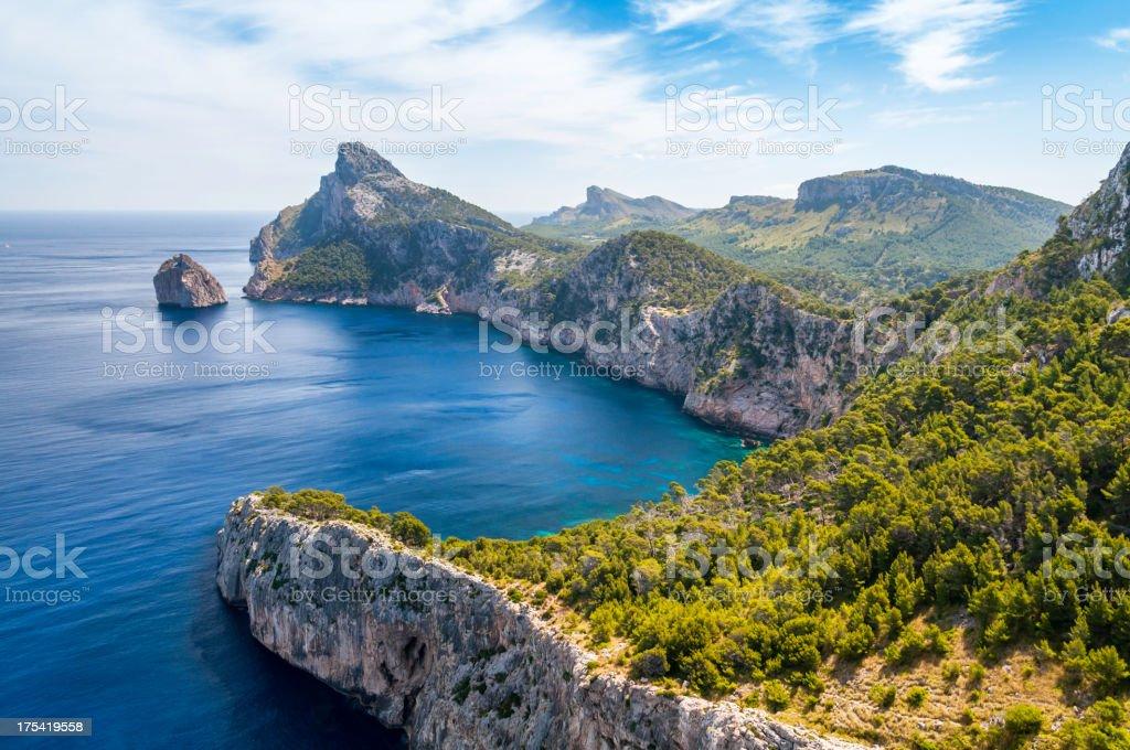 Formentor landscape stock photo