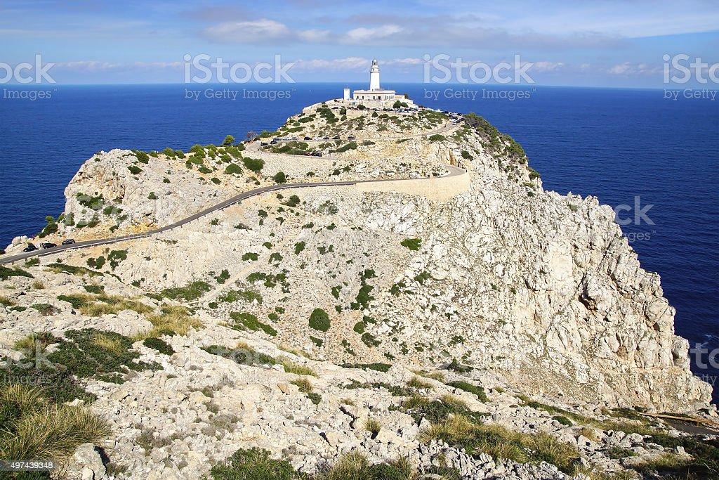 Formentor Lighthouse, Mallorca stock photo