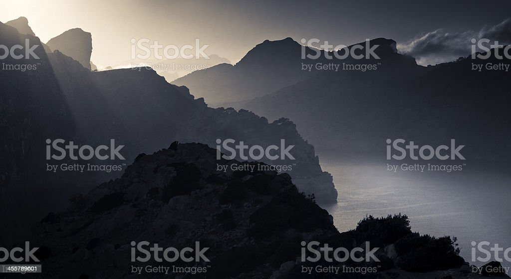 Formentor sunbeams royalty-free stock photo