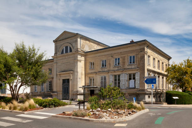 Former courthouse of Château-Thierry stock photo