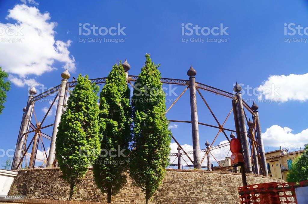 Former gasometer in Florence stock photo
