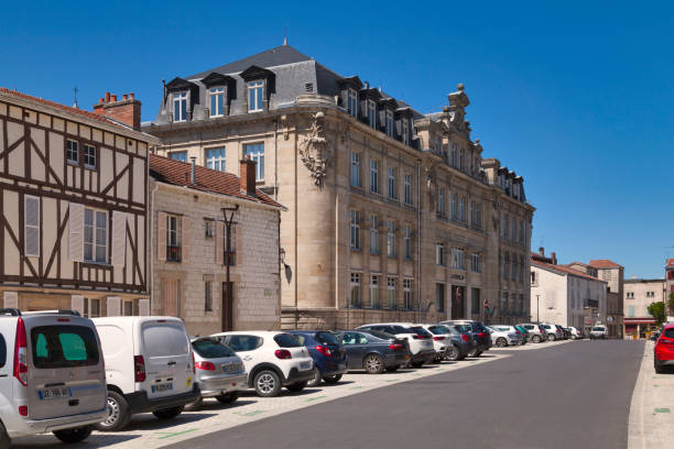 Former main post office of Chalons-en-Champagne stock photo