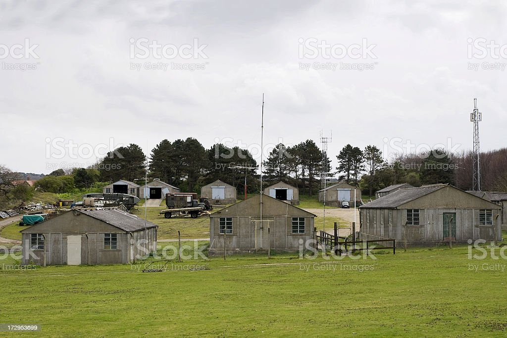 Former military camp stock photo