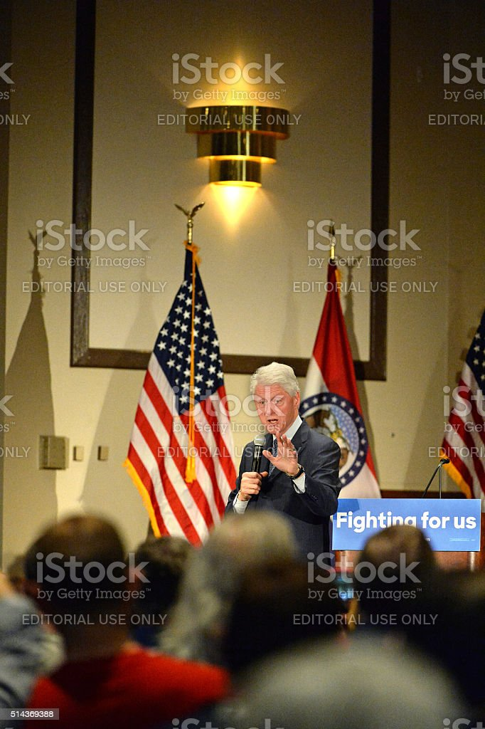 Former President Bill Clinton Speaks at Hillary Rally stock photo