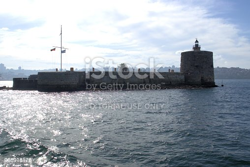 Fort Denison, part of Sydney Harbour National Park, former prison or penal site and defensive facility in New South Wales, Australia as on 27 May 2018. Formerly known as Pinchgut Island.