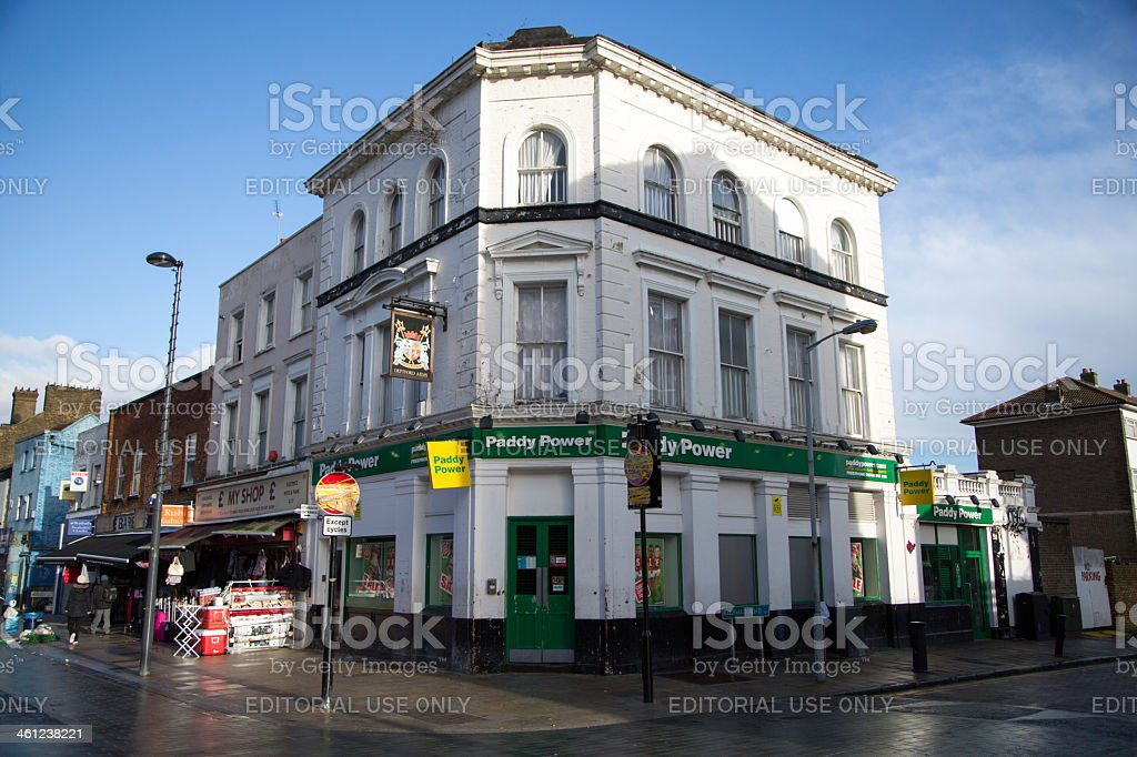 Former public house turned Paddy Power bookmakers