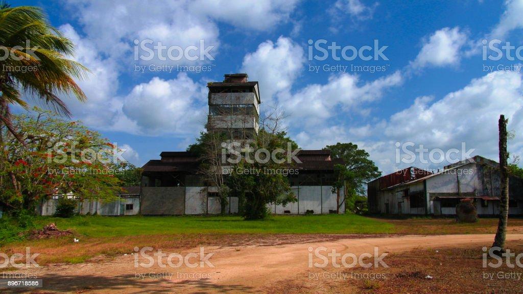 Former rum factory at Marienburg, Suriname stock photo