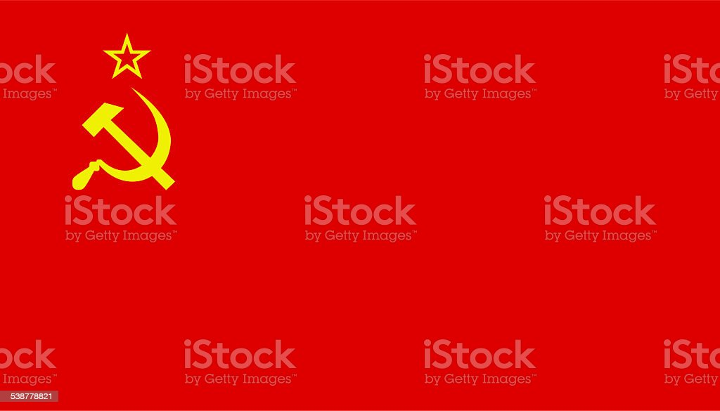 former soviet union flag stock photo