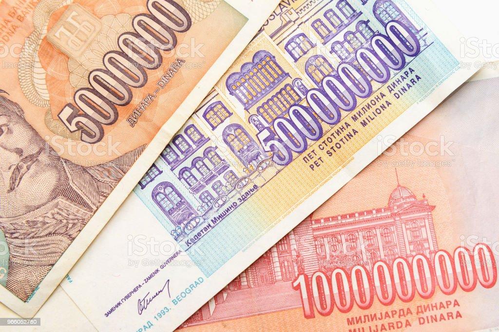 Former Yugoslavia banknotes - Стоковые фото Nikola Tesla роялти-фри