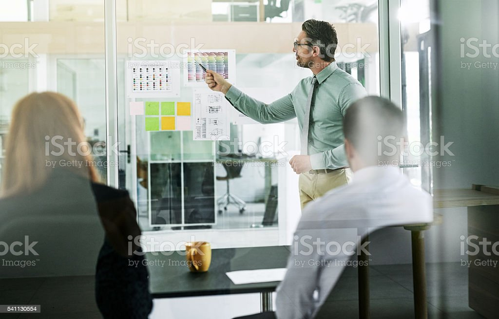 Forming an action plan for their new project stock photo