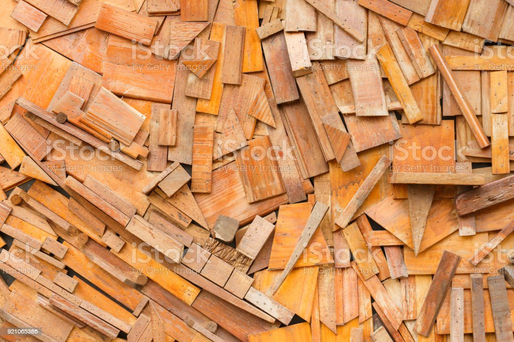 Formless decorative wooden wall background texture stock photo