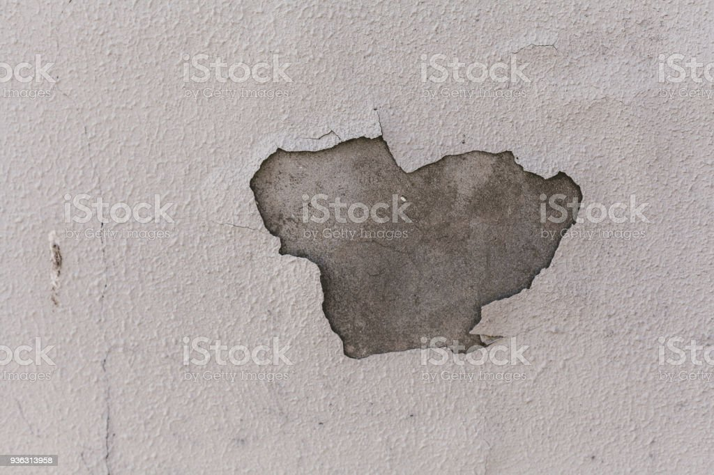 Formless spot on painted wall stock photo