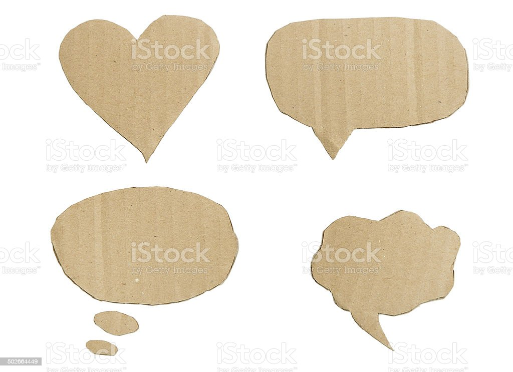 Forms of cardboard stock photo