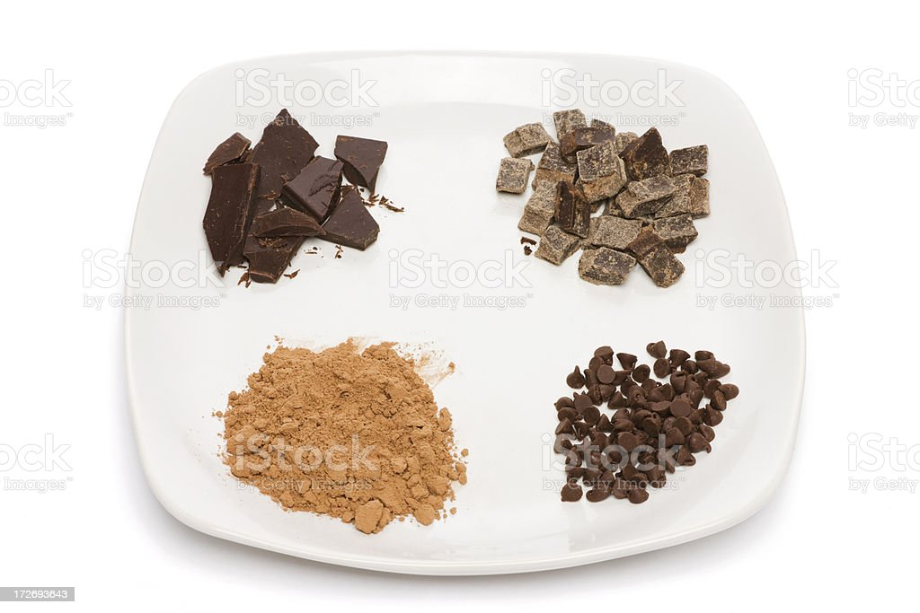 Forms of Chocolate royalty-free stock photo