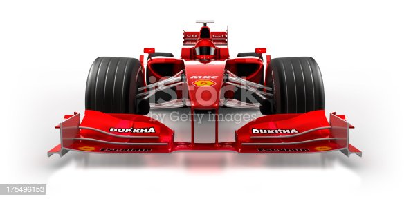 istock Formula 1 car in studio - isolated on white/clipping path 175496153