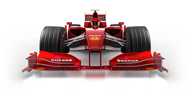 formula 1 car in studio - isolated on white/clipping path - formula 1 個照片及圖片檔