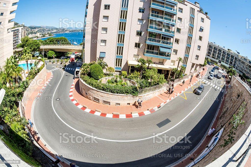 Formula 1 Grand Prix race track in Monaco stock photo