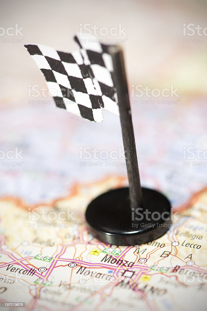 Formula 1 Racing Track in Italy stock photo