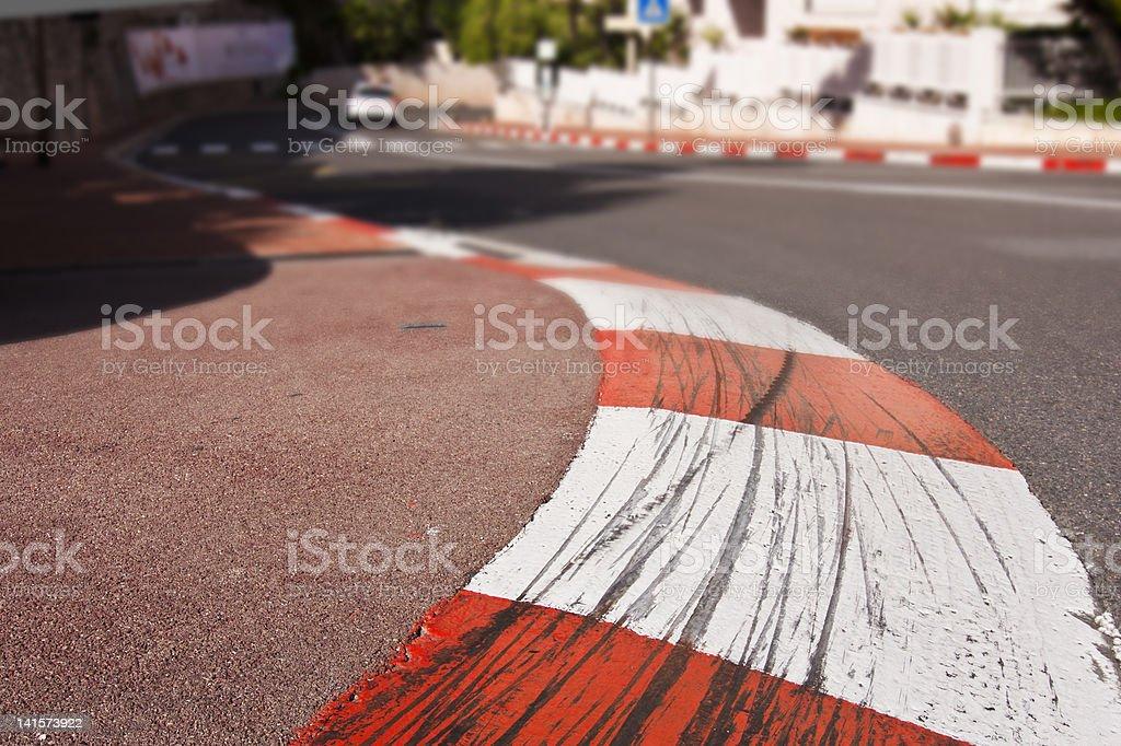 Formula 1 track Monaco stock photo