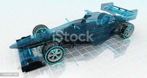 istock formula car technology wireframe sketch upper front view 1055897092