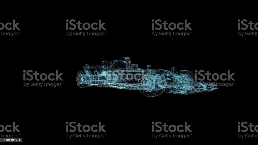 F1 Formel Hologramm Drahtmodell Nice 3d Render Auf Schwarzem Hintergrund Stockfoto Und Mehr Bilder Von Auto Istock