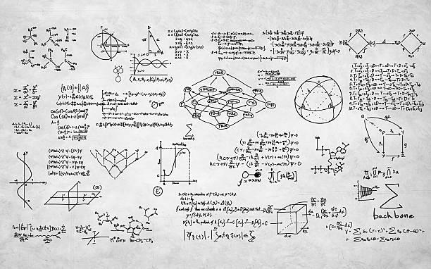 Fórmula de matemáticas geometría informar la ecuación símbolo matemático - foto de stock