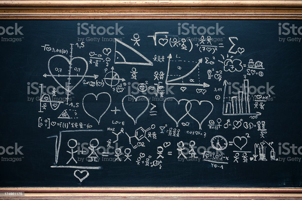 formula of love stock photo