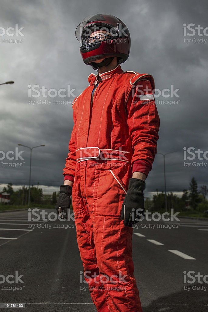 Formula one driver stock photo