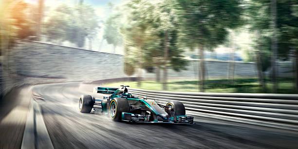 coche de carreras fórmula uno en la pista - irl indycar series fotografías e imágenes de stock