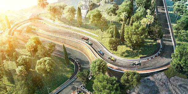 fórmula uno en la pista de carreras de coches - irl indycar series fotografías e imágenes de stock