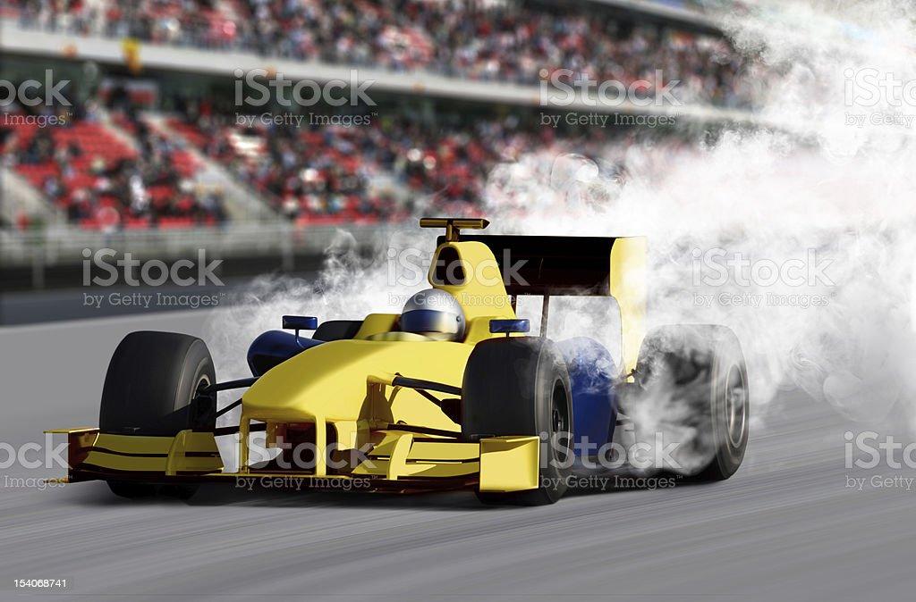 Formula One Speed Car royalty-free stock photo