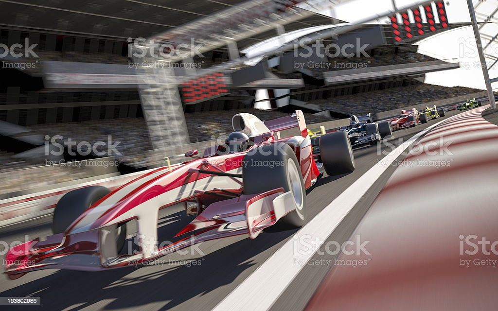 Formula One Type Racing stock photo