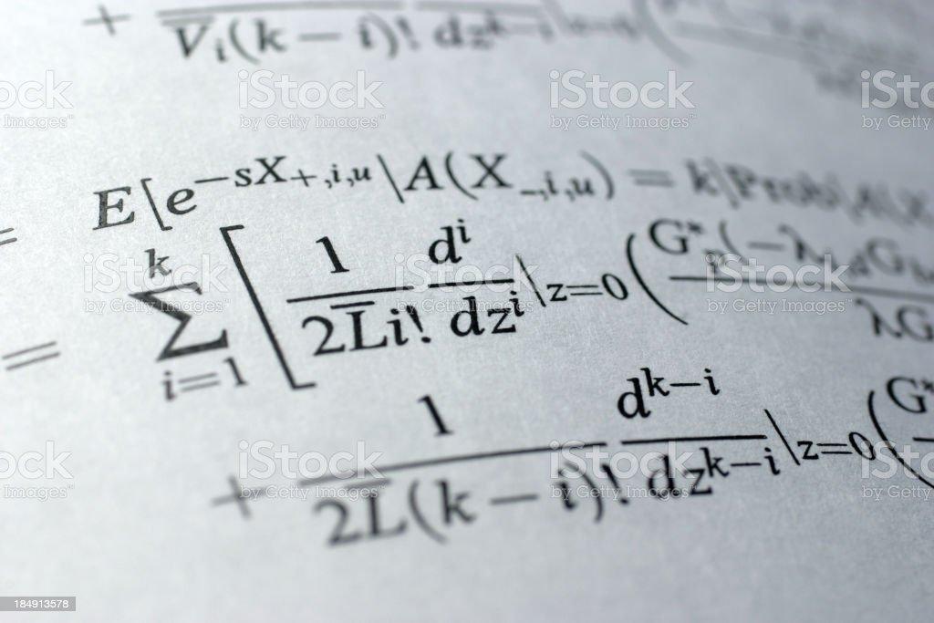 Formula royalty-free stock photo