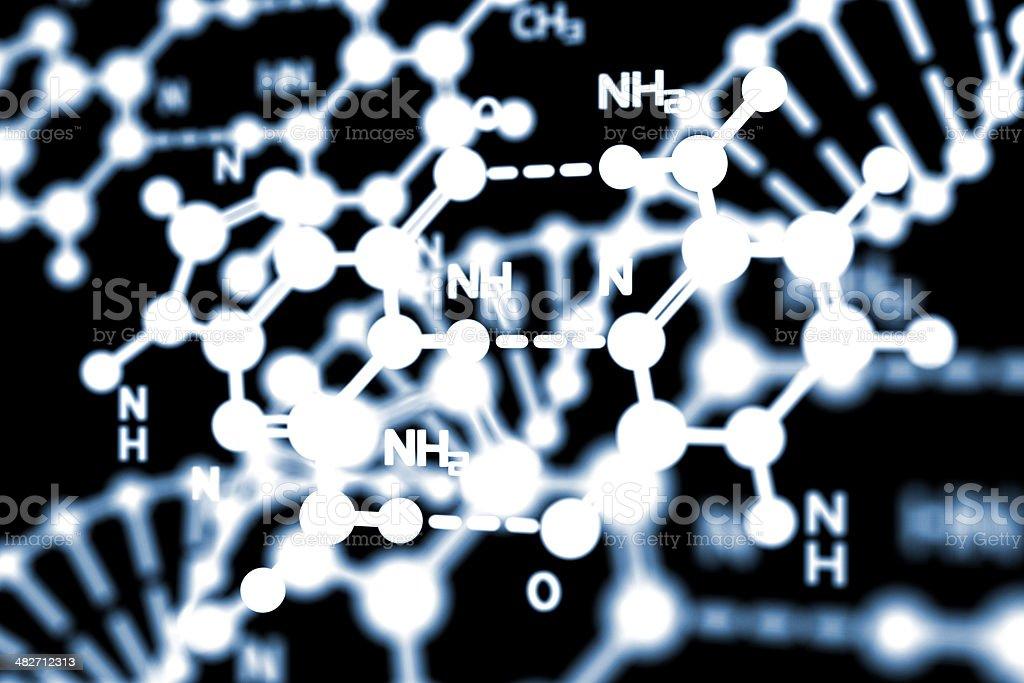 DNA Formula royalty-free stock photo