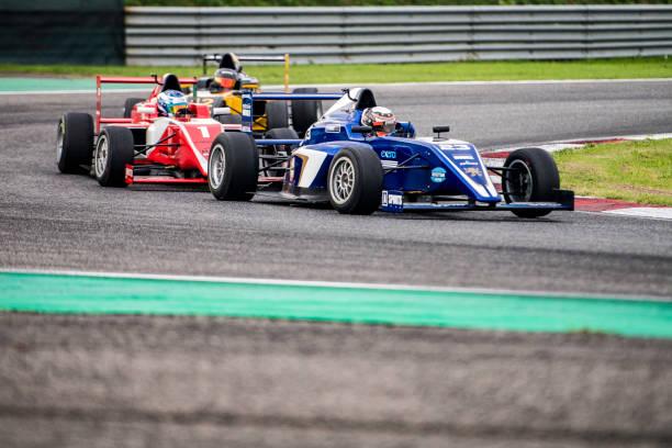 fórmula de la carrera de coches en la pista - irl indycar series fotografías e imágenes de stock