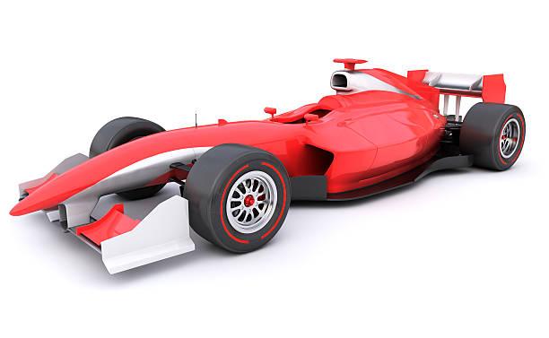 формула гонки красный автомобиль от себя - formula 1 стоковые фото и изображения