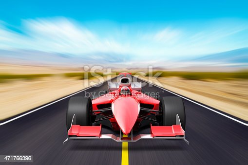 istock Formula race red car 471766396