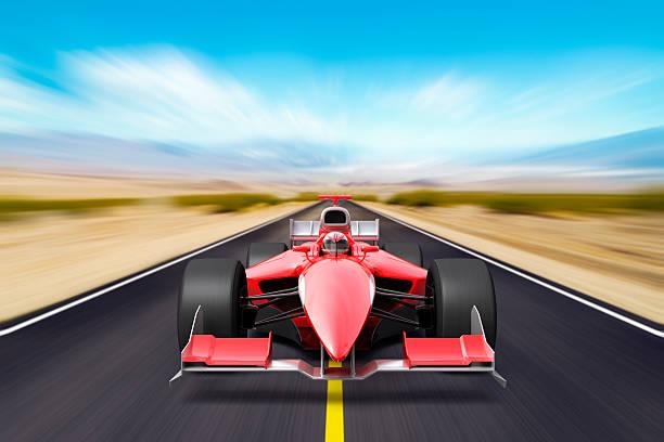 формула гонки красный автомобиль - formula 1 стоковые фото и изображения