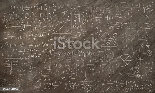 istock Formulas and figures 494234857