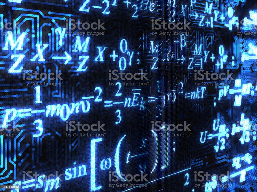 Formulas background stock photo