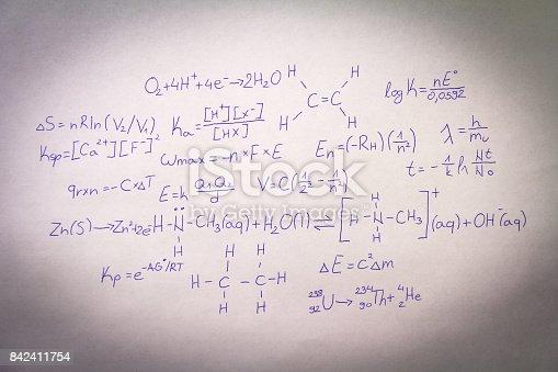 istock Formulas written on paper 842411754
