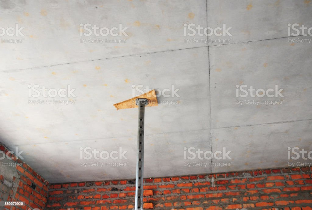 Formwork ceiling systems. Ceiling formwork is the type of formwork mostly found in structures stock photo