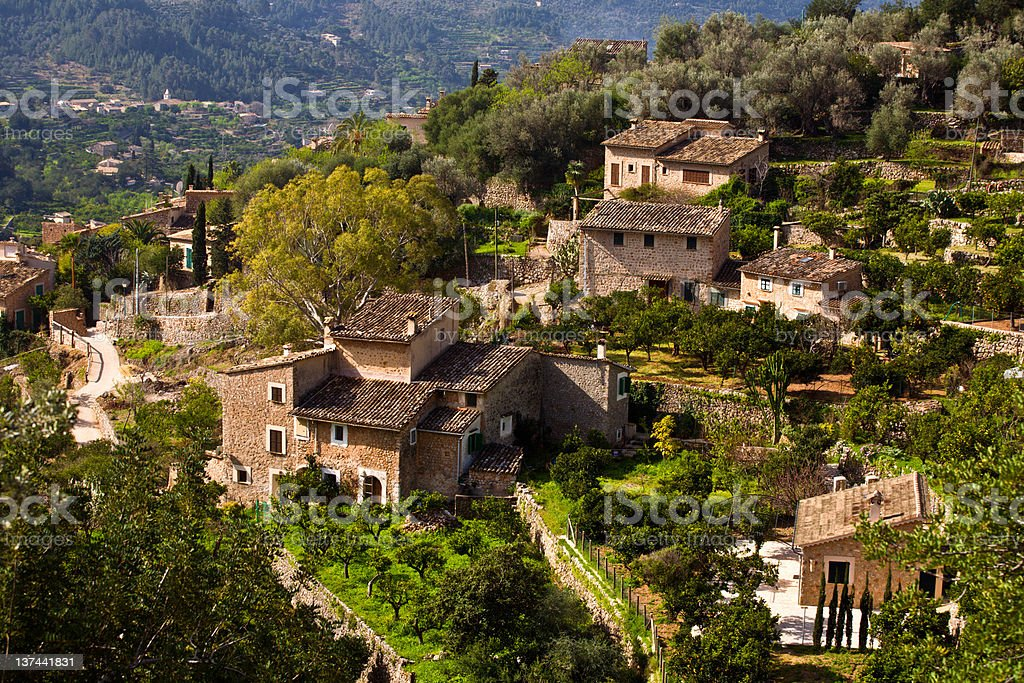 Fornalutx, Village in Majorca royalty-free stock photo