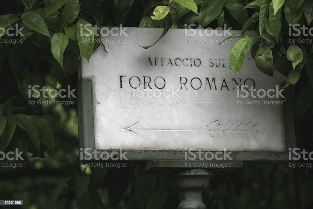 Foro Romano Sign royalty-free stock photo