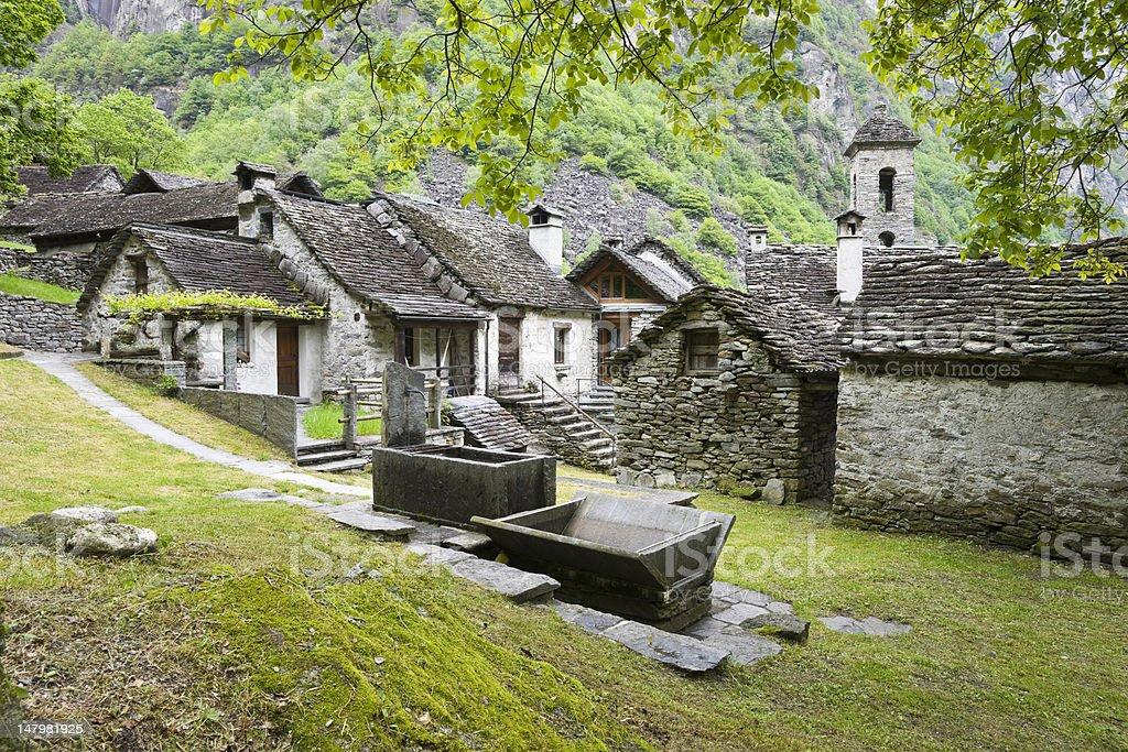 Foroglio im Val Bavona royalty-free stock photo